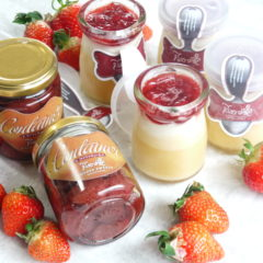 strawberry cheese purine & strawberry  confiture gift